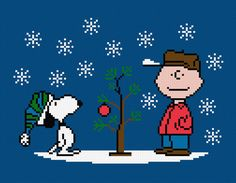 A Charlie Brown Christmas Characters  Cross by pixelpowerdesign, $4.00