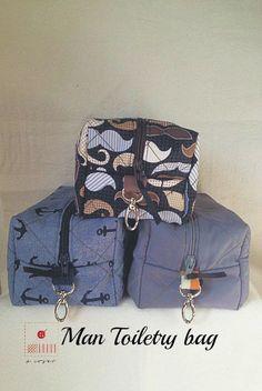 Man Toiletry bag-Medium Cosmetic bag-Toiletry case-Travel size bag-Bathroom case-Boys case-Boy zipper pouch-Gray pouch-Man bag-Gentleman by acoser2014 on Etsy