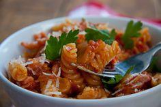 Fusilli with Bacon & Chilli | Simply Delicious