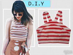 DIY | 90's Top | Striped Top | Stripes | http://cademeuchapeu.com