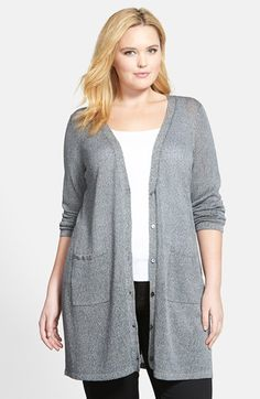 Free shipping and returns on Eileen Fisher Long V-Neck Cardigan (Plus Size) at Nordstrom.com. A heathered knit in a lightweight linen blend takes this elegant long version of the boyfriend cardigan right into spring.