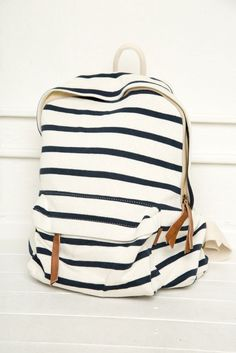 John Galt // Brandy backpack new , never used. it has been sitting in my closet too long ! can fit a normal binder and schools items Brandy Melville Bags Striped Backpack, Backpack Purse, Beach Backpack, White Backpack, Cute Backpacks, School Backpacks, Stylish Backpacks For College, Teen Backpacks, Leather Backpacks