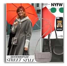 """""""NYFW: Street Style"""" by paculi ❤ liked on Polyvore featuring Moschino, contestentry and nyfwstreetstyle"""