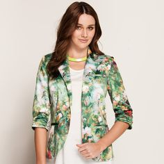 Green Floral One Button Blazer ($79.95) from Dotti.com.au