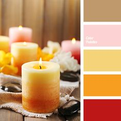 amber color, bright yellow, color composition, color of white flowers, color scheme for house, dark orange, dark yellow, lemon color, monochromatic palette, monochrome yellow color palette, pink, Red Color Palettes, red-brown, red-orange, saffron yellow, sandy orange, shades of orange.