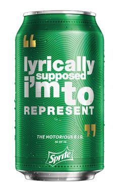 Nos EUA, Sprite usa frases de rappers em suas embalagens