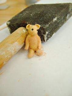 When I posted this doll last week, I promised a tutorial for the teddy bear.These cute littleguys are really easy to make, and look ...