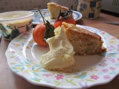 Christmas Clementine Cake with Clotted Cream!
