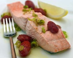 Poached Wild Salmon with Skillet Tomatoes Recipe