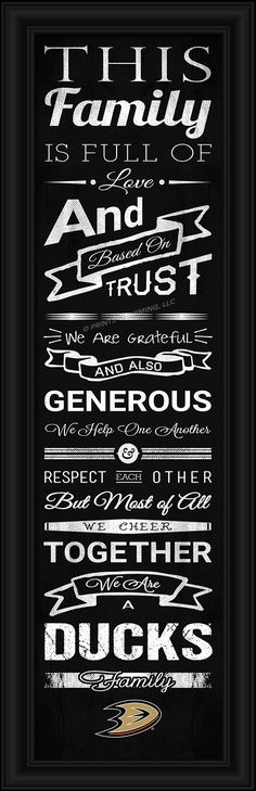 4865504918/848655049186/_A_ This full-color print features an inspiring message and lets everyone know who your family cheers for. The finished piece measures 24 x 8 inches…
