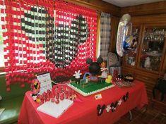 Stunning Mickey Mouse themed dessert table decor idea