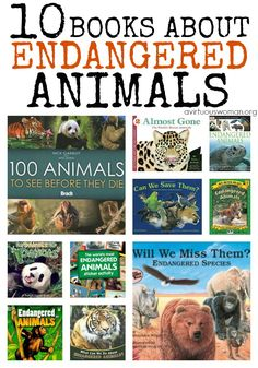 10 Books About Endangered Animals @ AVirtuousWoman.org