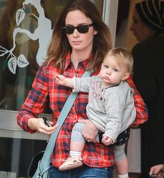 Emily Blunt Spotted with Daughter Hazel