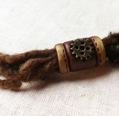 Steampunk dreadlock bead by feythcrafts on Etsy, :: Shop DreadStop.Com for Leather Dreadlock Cuffs, Ties & Dread Beads #dreadstop
