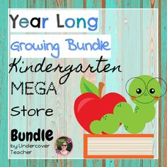 This Back-to-School Year Long Kindergarten Mega Store Growing Bundle contains a…