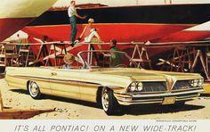Pontiac Bonneville Convertible Coupe 1961 - www.MadMenArt.com | Vintage Cars…