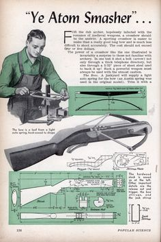 "Vintage crossbow schematics. For the ""Armed Hipster"" niche. - Album on Imgur"