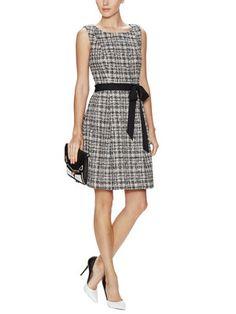 Aime Tweed Belted Dress - Trina Turk