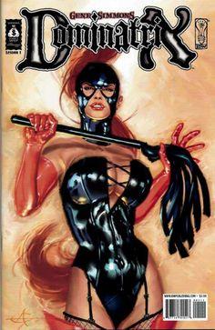 Gene Simmons Dominatrix comic art