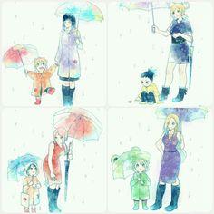 ⭐❤Boruto y Hinata Sakura y Sarada Ino y Inojin Temari y Shikadai ❇♥