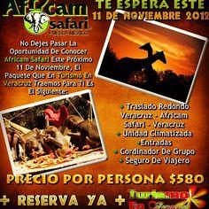 Vamos a #Africam #Safari saliendo de #Veracruz este 11 de noviembre http://www.turismoenveracruz.mx/2012/08/vamos-a-africam-safari-este-11-de-noviembre-2012/   Photo by turismoenveracruz • Instagram