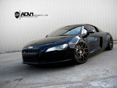 Audi R8 on special ADV.1 ADV7.1 wheels