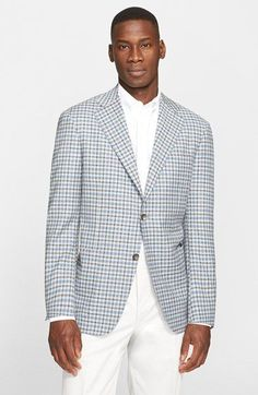 Canali+Classic+Fit+Check+Wool+Blend+Sport+Coat+available+at+#Nordstrom