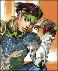 gaining great colour inspirations from Japanese manga, Jojo's Bizarre Advanture. Rohan