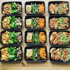 Something about laying out your meal prep brings peace and motivation to your week. Nice prep by @fitness.woohoo - ALL-IN-ONE TOOL & GUIDES -  Build Custom Plans & Set Nutrition Goals  BMR, BMI, & Max Rate Calculator  Learn Your Macros by Body Type & Goal  Grocery Lists Automated to Weekly Needs  Accurate Cooking and Prep Summaries  Combine & Export Data for Two Plans  Track Your Progress & Daily Allowance  Food Lists for Clean Eating  Database of Over 7,500+ Foods  Sl...