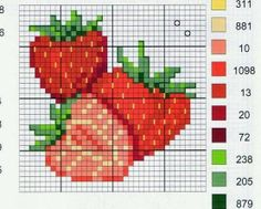 Brilliant Cross Stitch Embroidery Tips Ideas. Mesmerizing Cross Stitch Embroidery Tips Ideas. Cross Stitch Fruit, Cross Stitch Kitchen, Beaded Cross Stitch, Cross Stitch Flowers, Cross Stitch Charts, Cross Stitch Designs, Cross Stitch Embroidery, Embroidery Patterns, Hand Embroidery