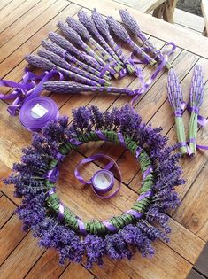 beautiful lavender wreath