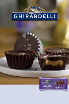 These delicious Ghirardelli Dark Chocolate Nut Butter Cups are made with our 72% Dark Chocolate Chips! This super simple recipe lets you control the level of sweetness with all of the rich chocolate flavor. Enjoy them at home or send them as a gift to loved ones! #GhirardelliBaking #BiteBetter Halloween Desserts, Holiday Desserts, Holiday Baking, Christmas Baking, Christmas Cookies, Holiday Candy, Holiday Meals, Christmas Crafts, Chocolate Oats