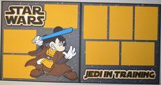 Disney STAR WARS Jedi Mickey 2-Page 12x12 Scrapbook Page KIT