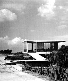 preciousandfregilethings:jonasgrossmann:francisco artigas… sales pavilion, gardens of el pedregal, mexico city, 1950 @ placesjournal