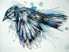 Blue Jay watercolour.