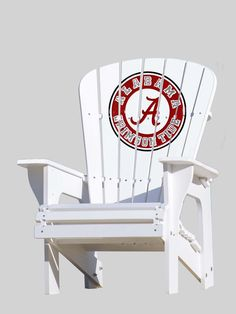 The Alabama Crimson Tide Adirondack Chair is commercial-quality and offers a comfortable and stylish seating solution for use by the pool, near the fire pit, on the porch, while tailgating, or virtual