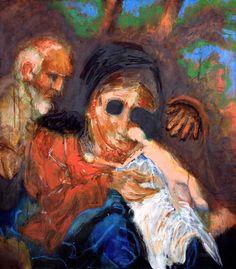 A. Beck, Schwarzäugige Susanne, Acryl auf Leinwand, 80 x 70 cm, 2010, 1050 €