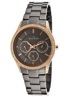 Women's Brown Dial Gunmetal Ion Plated Stainless Steel