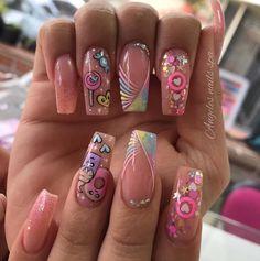 Cute Nails, Acrylic Nails, Nail Art, Margarita, Spa, Beauty, Instagram, Perfect Nails, Nail Glitter Design