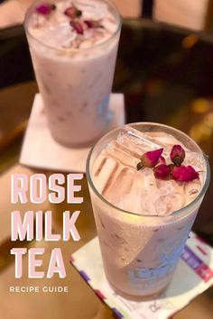Ever wondered what it's like to have floral notes of flavor in your milk tea? Well with our full recipe guide on how to make rose milk tea, you'll find out today! Rose Milk Tea, Milk Tea Recipes, How To Make Rose, Oolong Tea, Brewing Tea, Soy Milk, Bubble Tea, New Flavour, How To Memorize Things