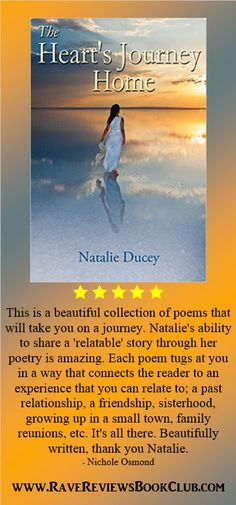 A beautiful collection of #poems by Natalie Ducey ​@NatalieDucey #RRBC http://amzn.to/1ScJc0r