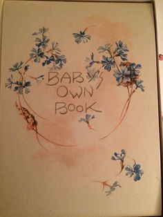 May Farini, Baby's Own Book, Copyright 1923, C.R. Gibson & Co. New York City, New vintage stock