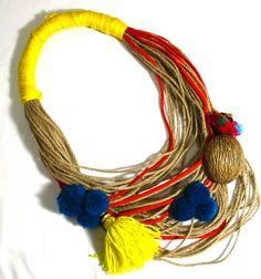 Yellow Pompom by Shorouq Alraish - Accessories   Moodati