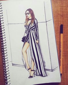 #fashion #illustration #stripes