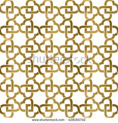 #Abstract #repeatable #pattern #background of #golden twisted strips. Swatch of gold intertwined wavy bands. Seamless pattern with #hearts.