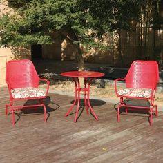 Woodridge 3-Piece Motion Outdoor Bistro Set, Seats 2 - Walmart.com