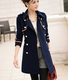 Now this coat really reminds me of Captian Elden. Elegant Style Trench Coat for Women Fashion Fashion Mode, Womens Fashion, Fashion 2014, Street Fashion, Coats For Women, Jackets For Women, Trench Coat Style, Cute Coats, Winter Mode