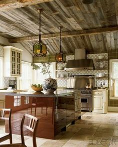 Modern with a touch of rustic chic!