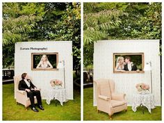 photo booth...this would be cute to do and have you sit in the chair then people come along and hold up a mustache or a pink bow depending on what they think you are having. That would take a lot of time though, and everyone might not want to do it