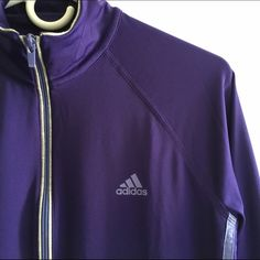 ❗️LOWERED❗️Purple Adidas jacket 🍉Made for running/exercise great to use on a sunny day or a day at a gym🍉feels soft and has a waterproof feeling  🍉has holes to help release heat 🍉PERFECT CONDITION brand new without tags ❌NO TRADES Adidas Jackets & Coats